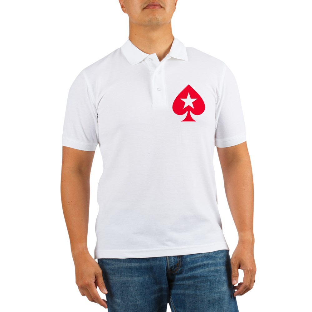 CafePress - Pokerstars Shirts And Clothin Golf Shirt - Golf Shirt, Pique Knit Golf Polo
