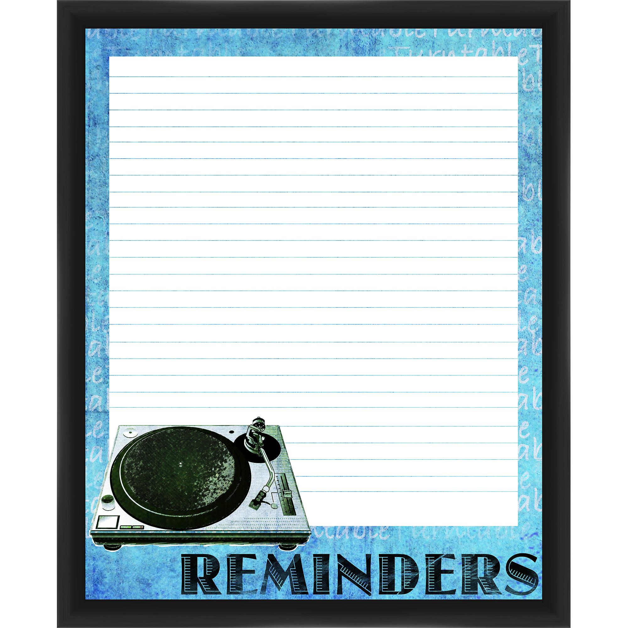 Turntable Reminders Black Memoboard
