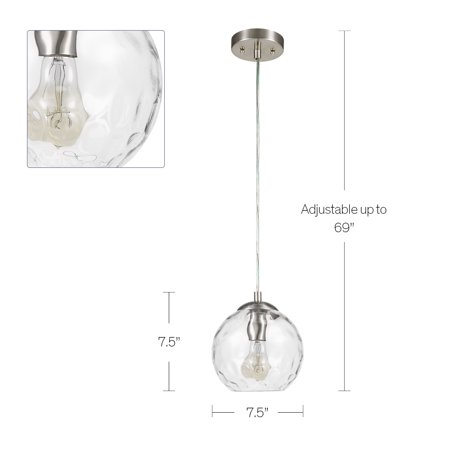 Better Homes & Gardens Clear Glass Pendant Light