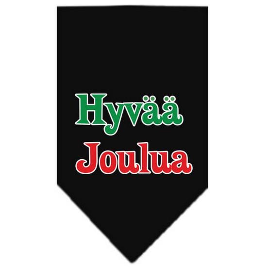 Hyvaa Joulua Screen Print Bandana Black Small