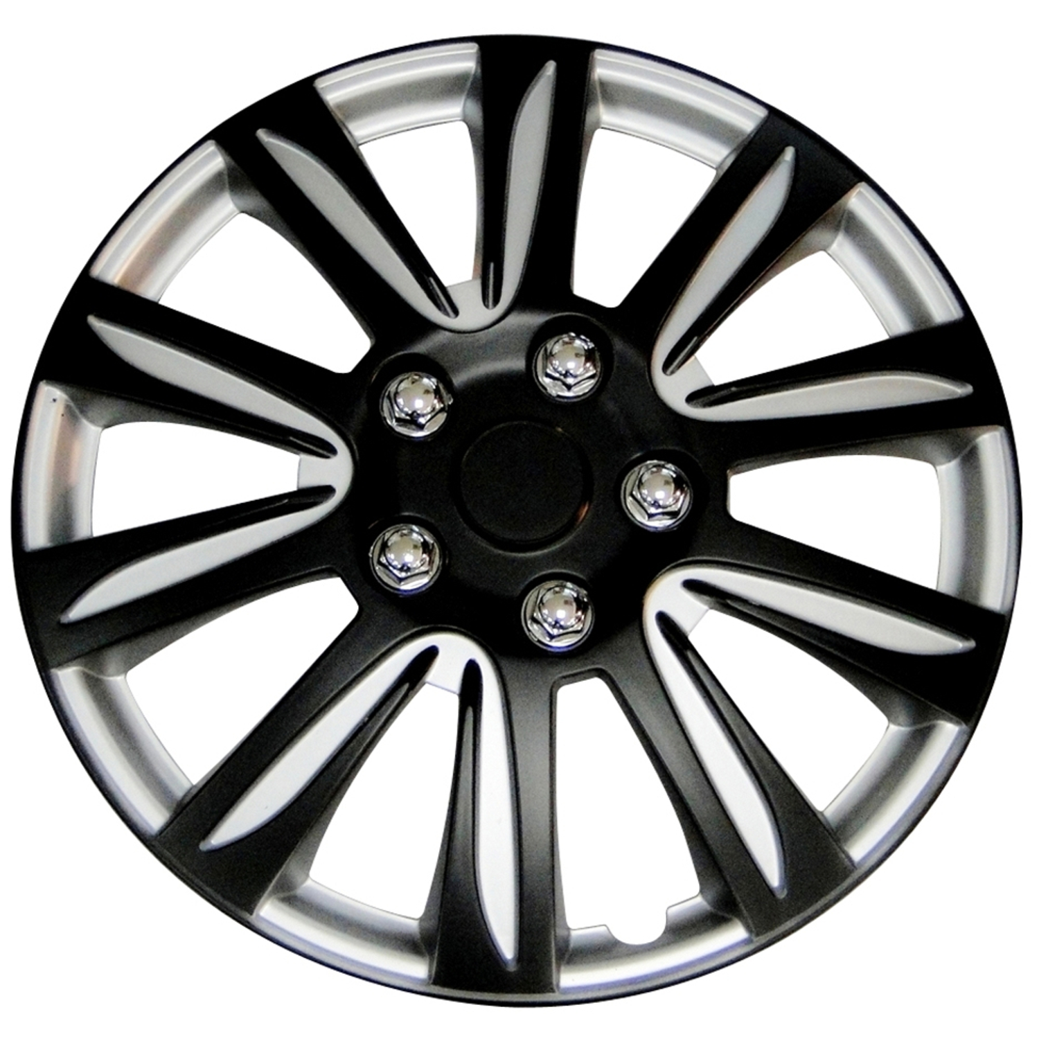 "Black 14"" Premier Wheel Cover, (Set of 4 covers) (WH546-14B-BS)"