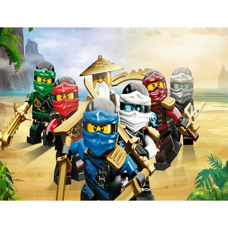 Lego Ninjago All Ninjas Edible Cake Topper Image ABPID00025V2 - Go Diego Go Cake