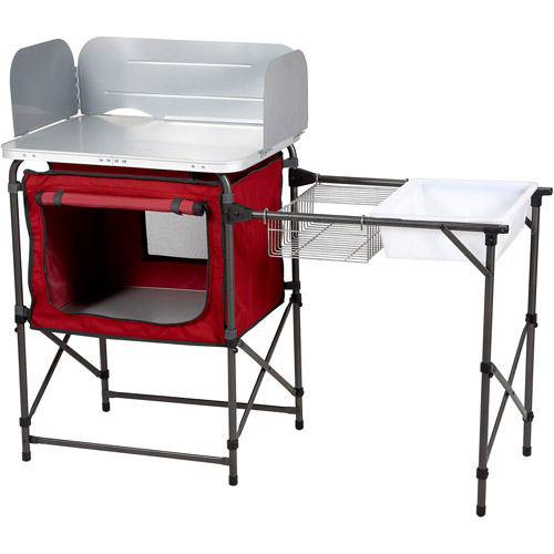 ozark trail deluxe camp kitchen and sink table - walmart
