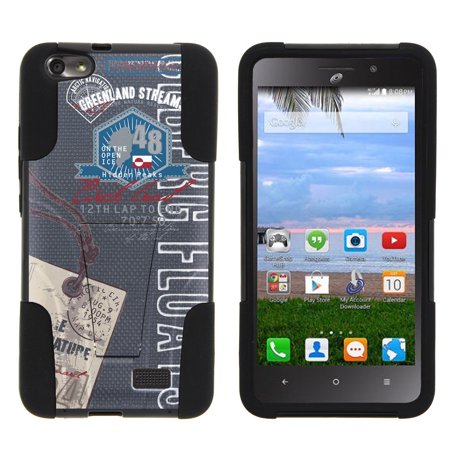 Huawei Raven LTE H892L STRIKE IMPACT Dual Layer Shock Absorbing Case with Built-In Kickstand - Greenland Vintage