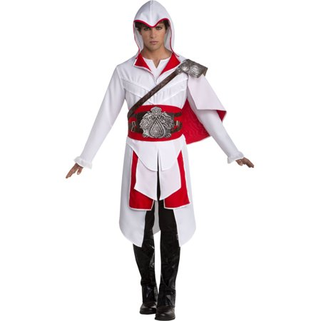 Assassin's Creed White Ezio Deluxe Adult Mens Costume - Assassins Creed Costume