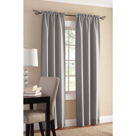 Mainstays Sailcloth Rod Pocket Curtain Panel, Set of 2 (Door Rod Pocket Curtain Panel)
