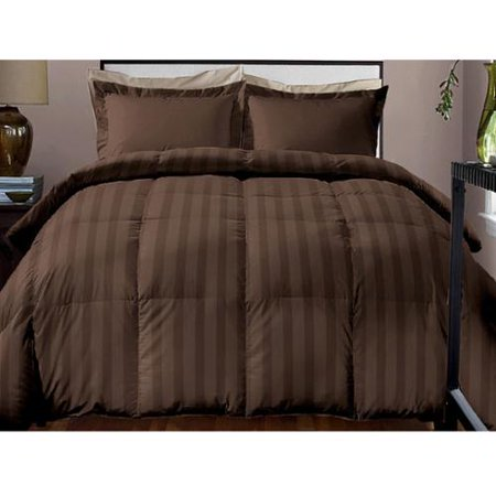 Alternate Stripe - Hotel Grand  Damask Stripe 800 Thread Count Cotton Rich Down Alternative Comforter
