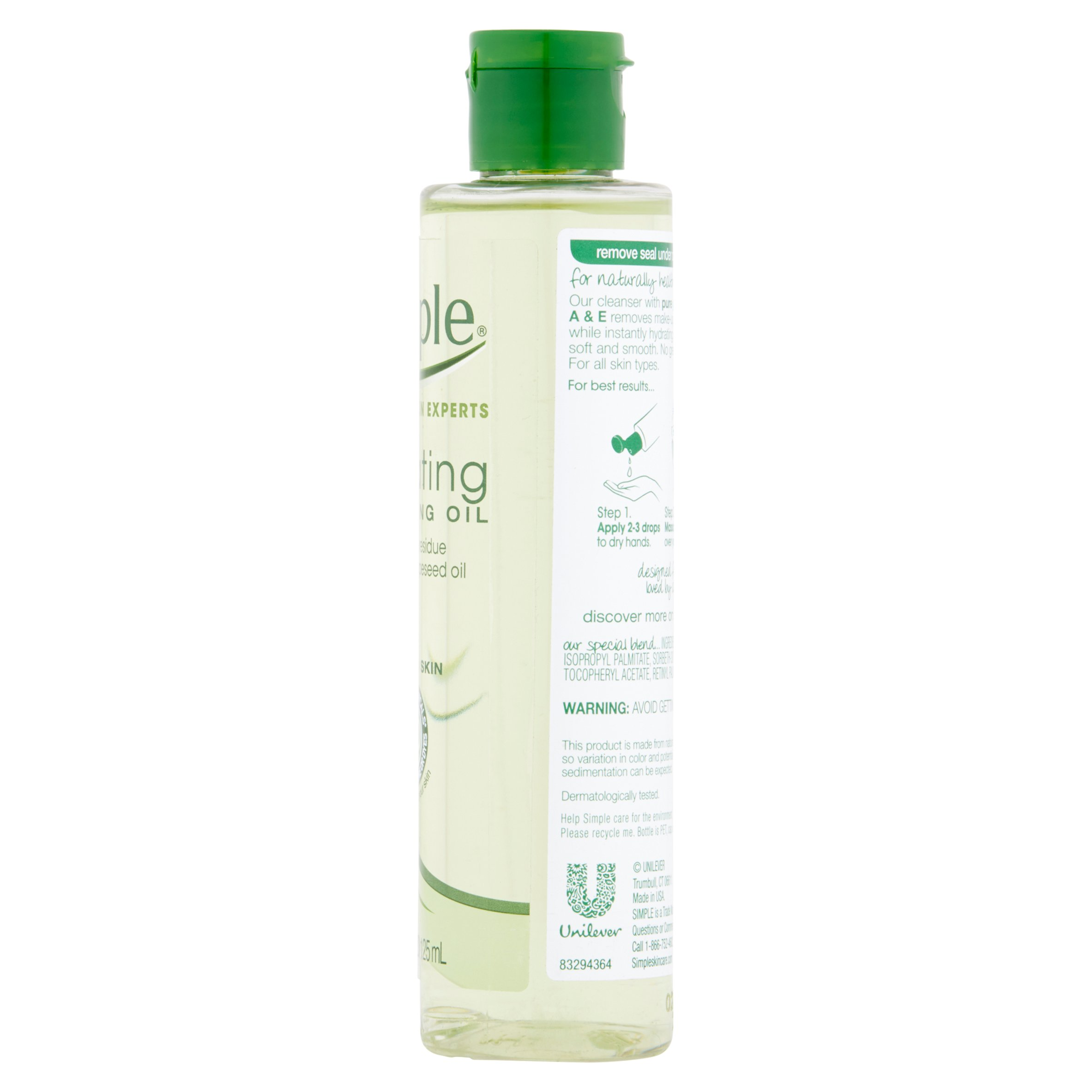 Simple Sensitive Skin Experts Hydrating Cleansing Oil 4 2 Fl Oz