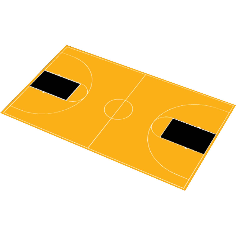 "DuraPlay Full Court Basketball Kit, 51' x 83'11"", Yellow and Black"
