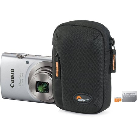 Canon PowerShot ELPH 180 Digital Camera Bundle with 20 Megapixels, 8x Optical Zoom, Tahoe 10 Camera Pouch and 16GB microSD Card