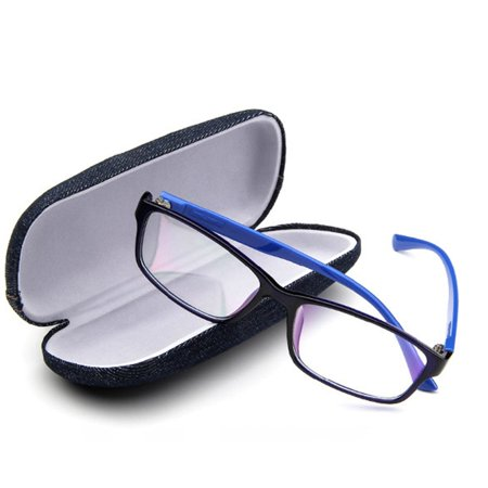 Jeans Cloth Scratchproof Eyeglasses Box Hard Eyeglass Case Protective Box - image 4 of 7