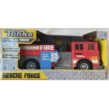 Tonka Rescue Force Lights and Sounds 12-inch Ladder Truck - Fire Dept 82 Gm 12 Bolt Truck