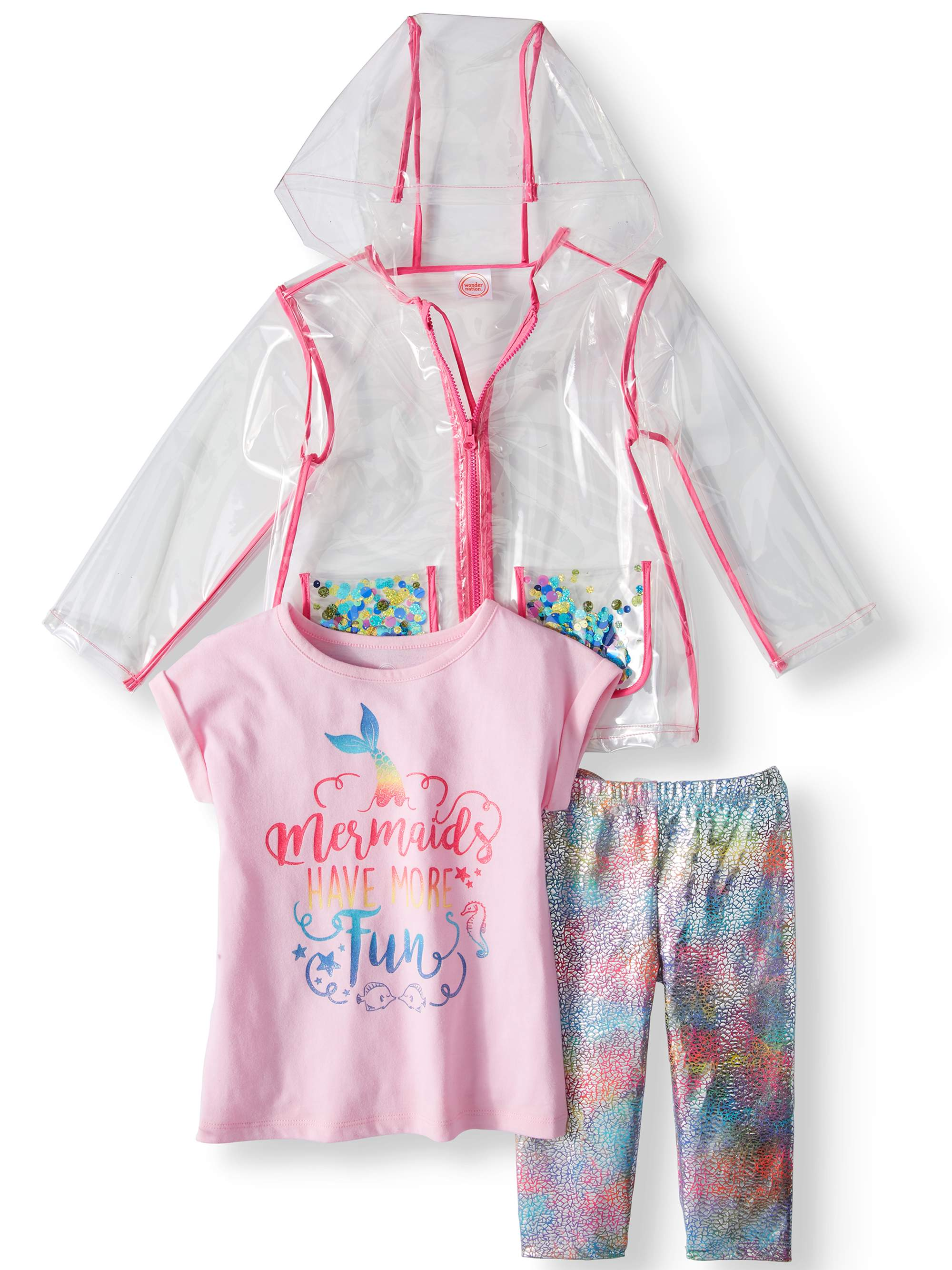WONDER NATION GIRLS  4T OUTFIT NEW WITH TAGS