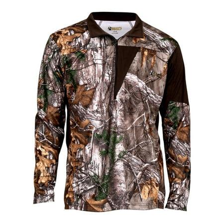 Rocky Outdoor Shirt Mens Quality Silenthunter L/S 1/4 Zip 600546