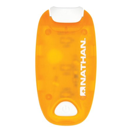 Strobe Light, Orange, One Size, Safety with style in a slim, lightweight and waterproof strobe By (Nathan Style)