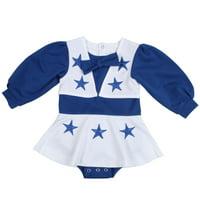 Dallas Cowboys Girls Toddler Blue DCC Cheer Uniform - White/Royal