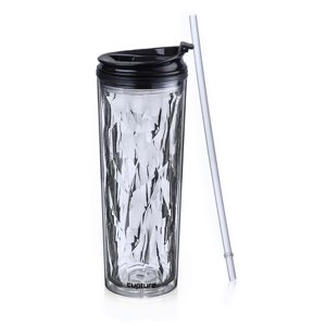 Cupture Crystal Click & Seal Shake Tumbler Cup for Hot or Cold Drinks - 22 oz (Black Diamond)