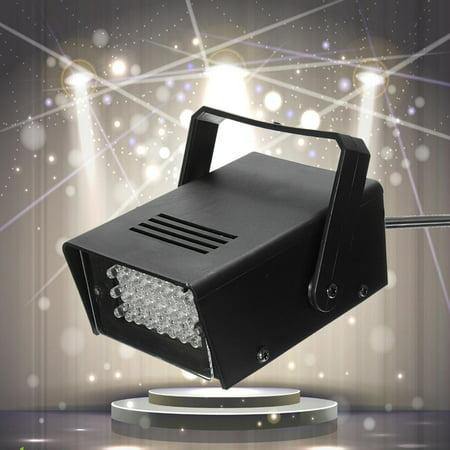 3W 220V Mini 24 High-Power LED Stage Light Strobe Flash Light For Halloween Club Flashing Light Dj Disco Bar Stage House Party Lighting](Halloween Club Party London)