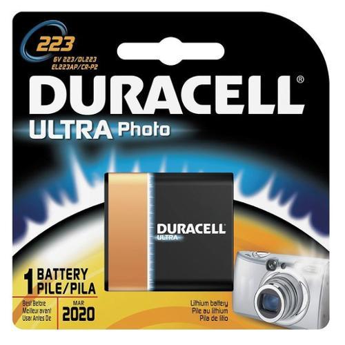 DURACELL DL223ABPK Battery, 223, Lithium, 6V