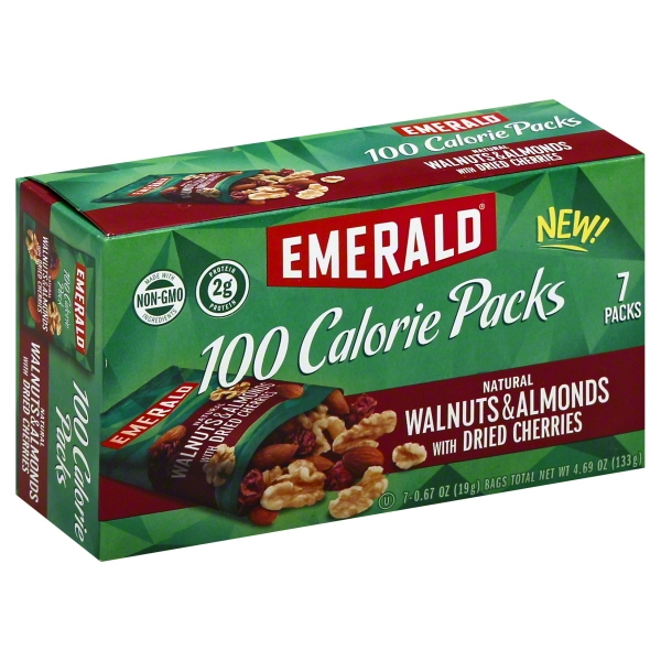 Emerald 100 Calorie Packs Natural Walnuts & Almonds with Dried Cherries, 7 / 0.67 bags