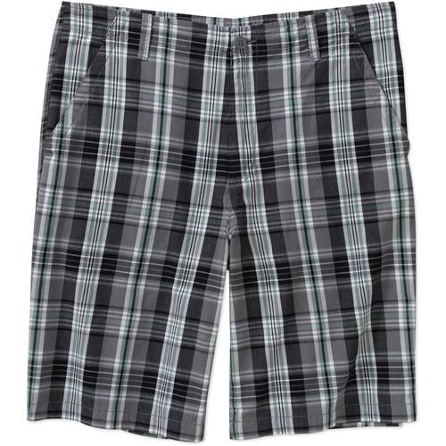 Faded Glory Big Men's Plaid Flat Front Shorts