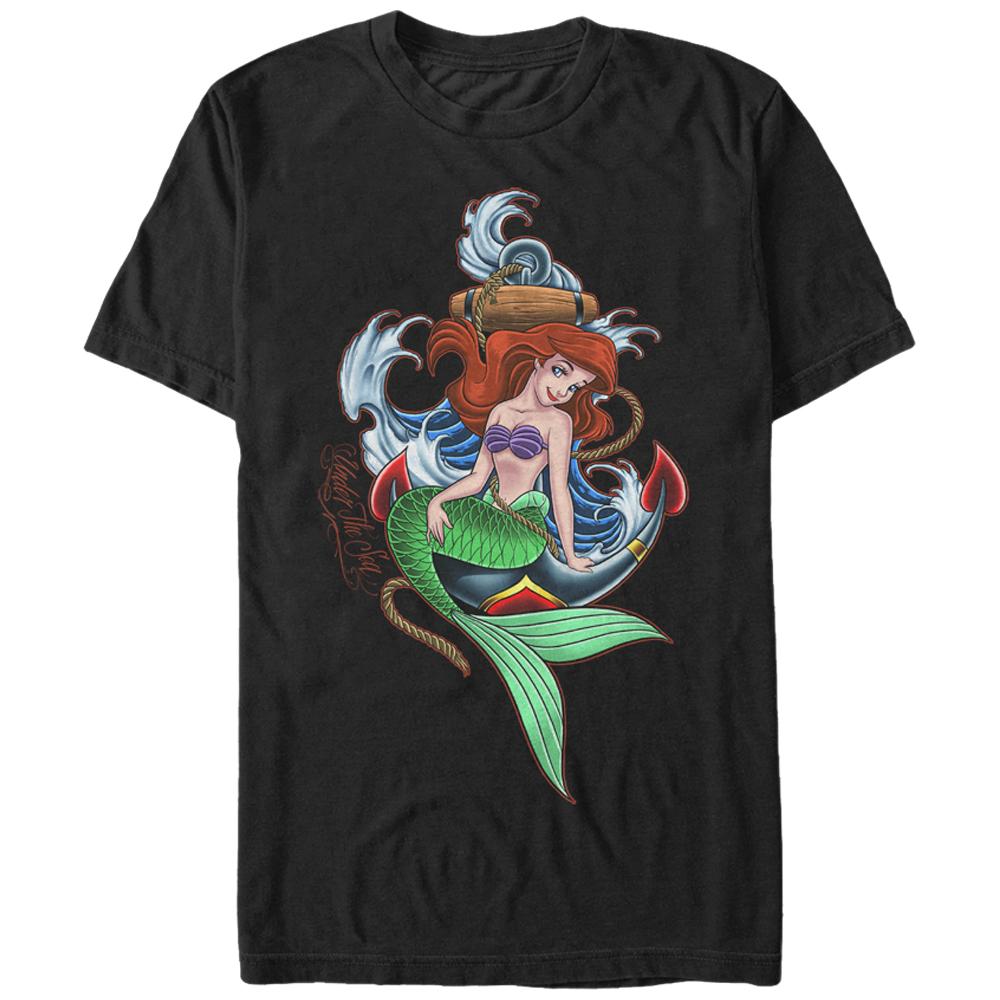 The Little Mermaid Men's Ariel Anchor T-Shirt