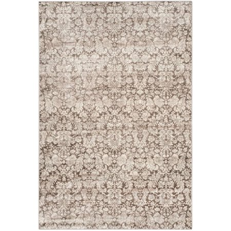 """Safavieh Vintage 4' X 5'7"""" Power Loomed Rug in Brown and Creme - image 4 de 6"""