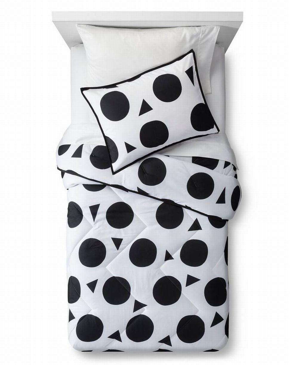 Black & White Polka Dot Twin Comforter