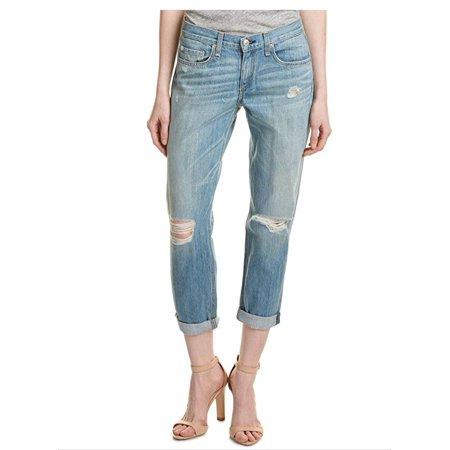 Rag & Bone Blue Women's 25X28 Boyfriend Seamed Distressed Jeans 25