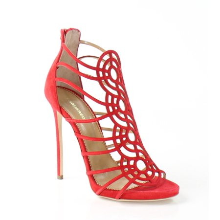 bb501bf8bb512 Dsquared2 - DSquared2 NEW Red Tacco Shoes Size 8.5M Strappy Suede Heels -  Walmart.com