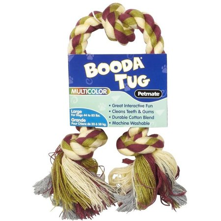 Booda 3 Knot Multi-Color Tug Rope, Large