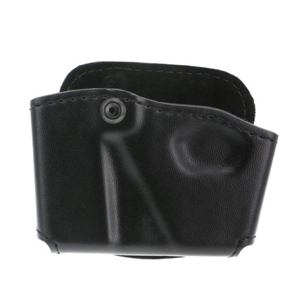 573 Glock 17 22 Open Top Paddle Magazine Pouch with Handcuff Case (Plain Black, Right Hand), 100% Synthetic By Safariland