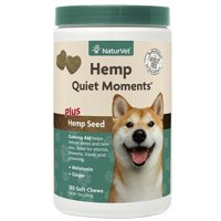 Dog Health Supplement Quiet Moments Soft Chews Calming Stress Anxiety Relief (Hemp Seed - 180 ct)
