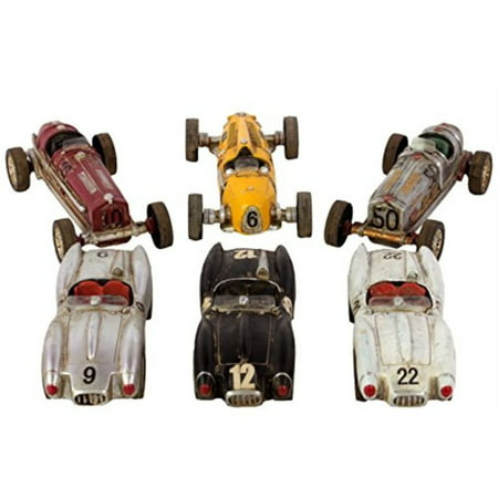 Resin Racing Cars Assortment Of Six
