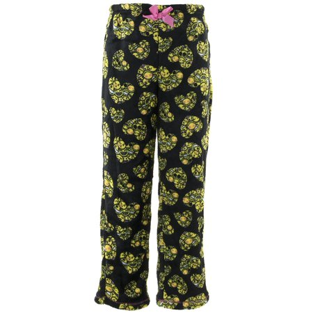 Rene Rofe Girls Emoji Hearts Black Fleece Pajama Pants - Emoji For Girls