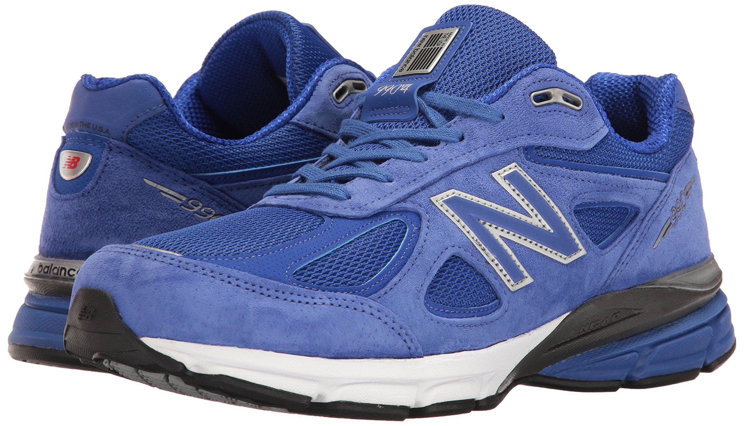size 40 f502b d8f5e New Balance Mens 990V4 Running Shoe, Uv Blue/Silver