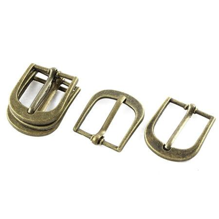 5pcs 29x25mm Bronze Tone Single Prong Horseshoe Belt Buckle