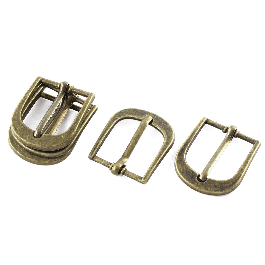 5pcs 29x25mm Bronze Tone Single Prong Horseshoe Belt Buckle