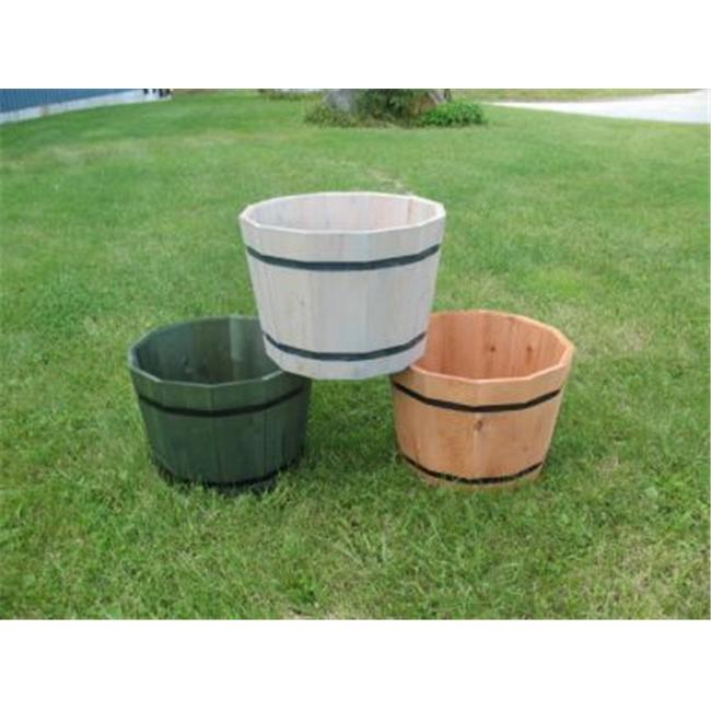 Maine Bucket TM2414 24 Inch Whiskey Barrel Planter - Natural