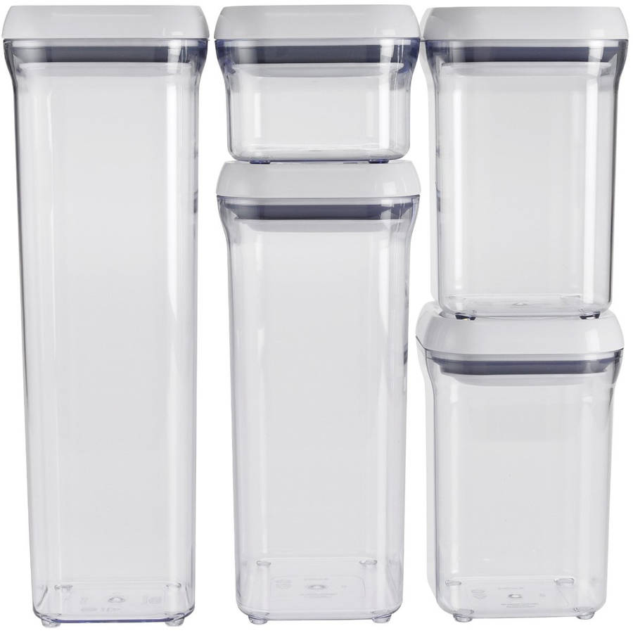 OXO 5-Piece Good Grips POP Container Set, White
