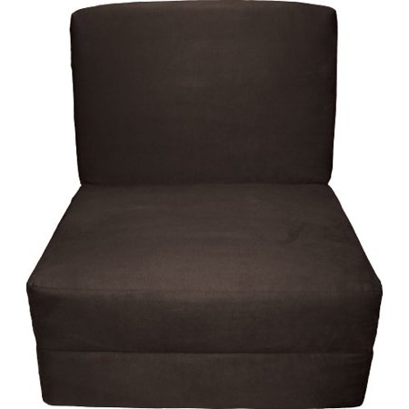 Prime Epic Furnishings Nomad Adult Foam Sleeper Chair Bed Suede Chocolate Brown Bralicious Painted Fabric Chair Ideas Braliciousco