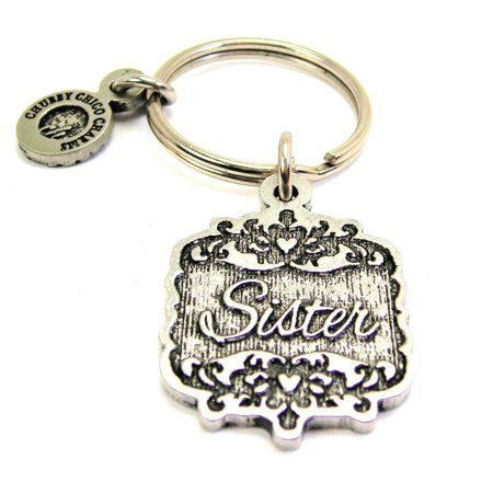 - Chubby Chico Charms Sister Victorian Scroll Key Chain