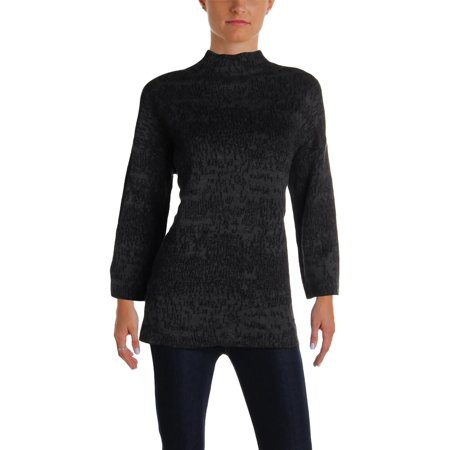 Eileen Fisher Womens Marled Day To Night Pullover Sweater Black S