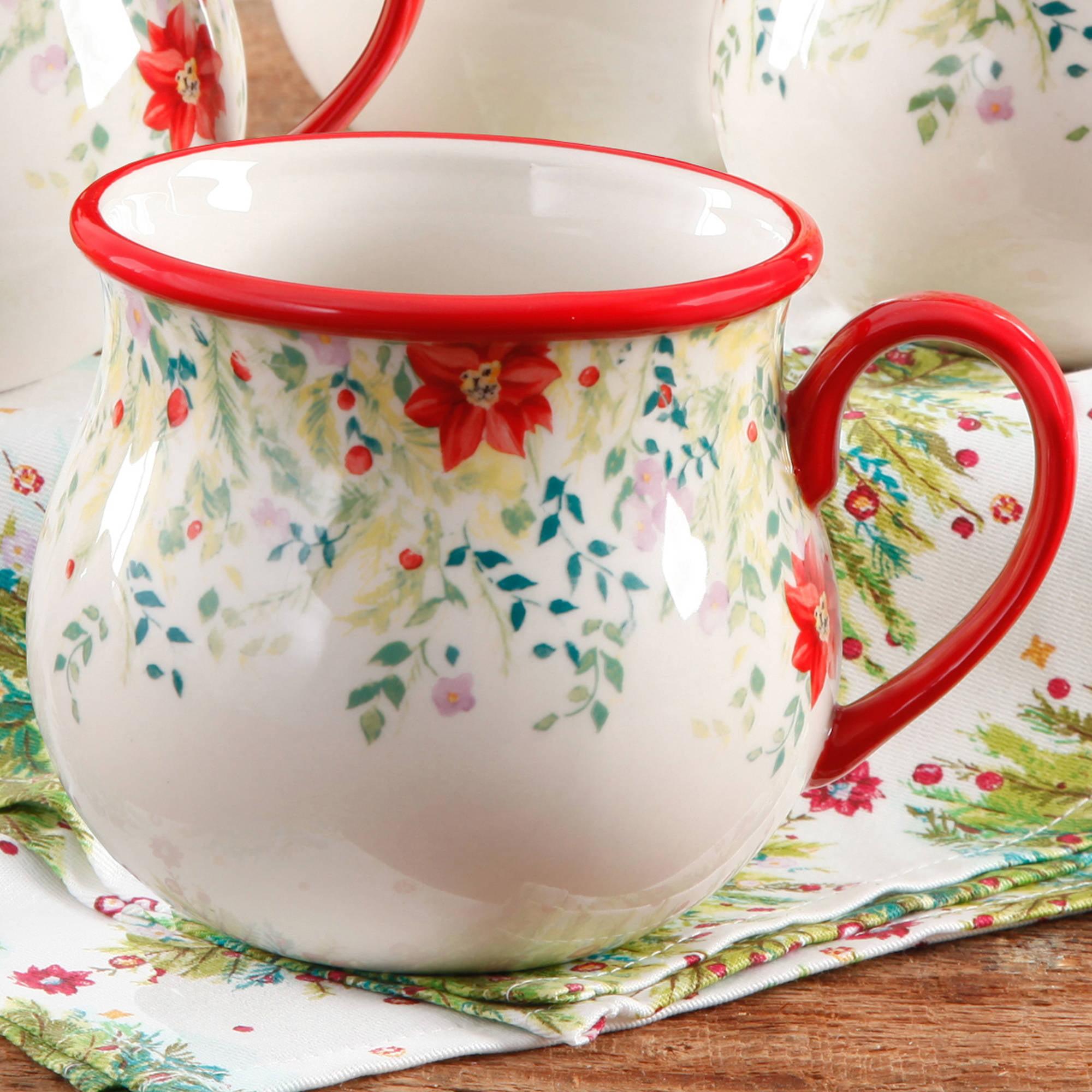 the pioneer woman holiday cheer belly mug walmartcom - Pioneer Woman Christmas