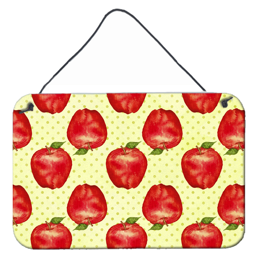 Watercolor Apples and Polkadots Wall or Door Hanging Prints BB7516DS812