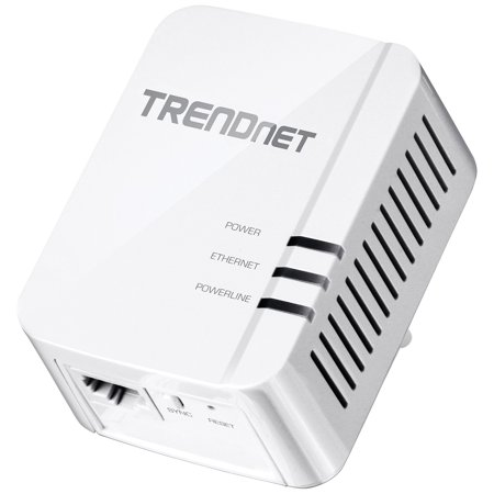 Trendnet Tpl 420E Powerline Network Adapter   1 X Network  Rj 45    5000 Sq  Ft  Area Coverage   984 25 Ft Distance Supported   Homeplug Av2   Gigabit Ethernet  Tpl 420E