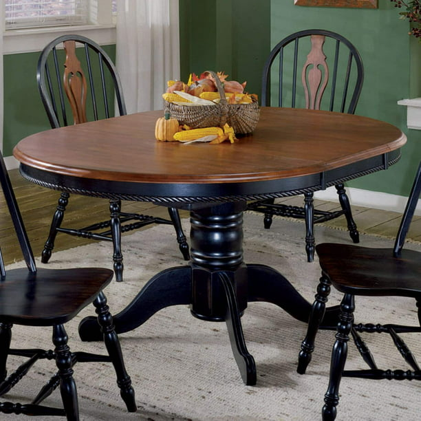 Sunset Trading 48 Inch Round Dining, 48 Round Pedestal Table With Leaf