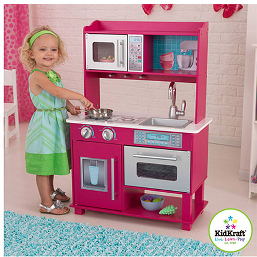 Kidkraft Wooden Play Kitchen kidkraft gracie wooden play kitchen - walmart