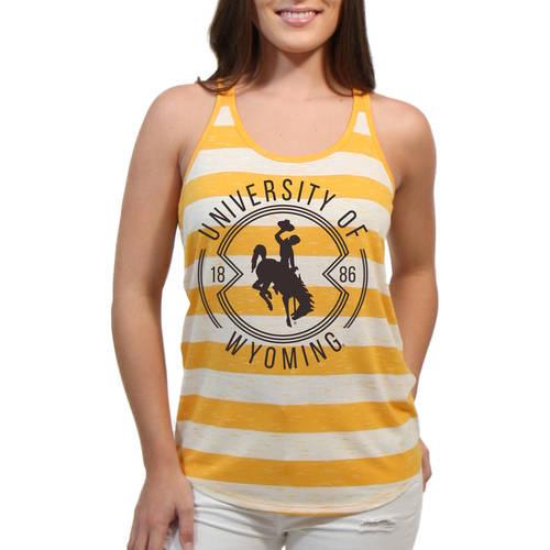 Wyoming Cowboys Intersecting Circles Women'S/Juniors Team Tank Top