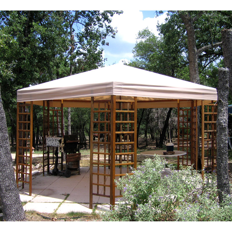 Garden Winds Replacement Canopy Top for Sam's Club Hexagon Gazebo - Riplock 350